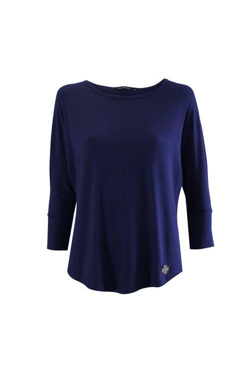 Blusa-manga-3.4-visco-com-punho-Azul-marinho-P