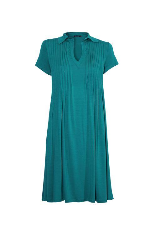 Vestido-polo-com-pregas-Verde-P