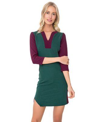 Vestido-geo-color-block-Vinho-petroleo-M