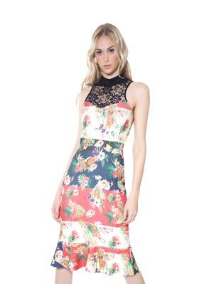 Vestido-prints-lace-Surf-M