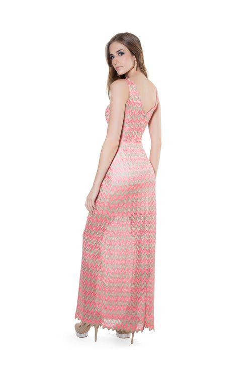 Vestido-zig-glam-Coral-M