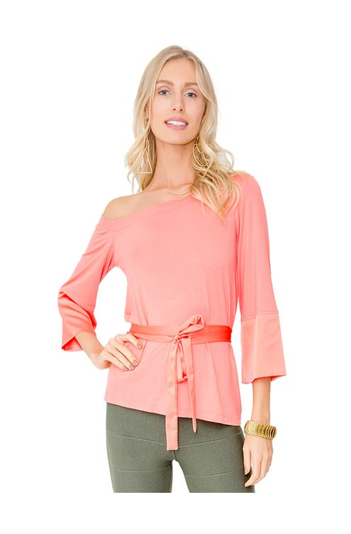 Camisa-manga-sino-com-faixa-Coral-M