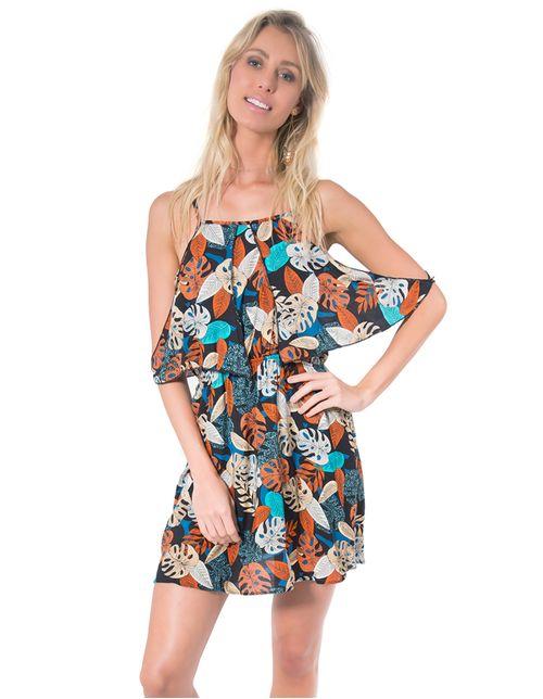 Vestido-alca-babado-Preta-laranja