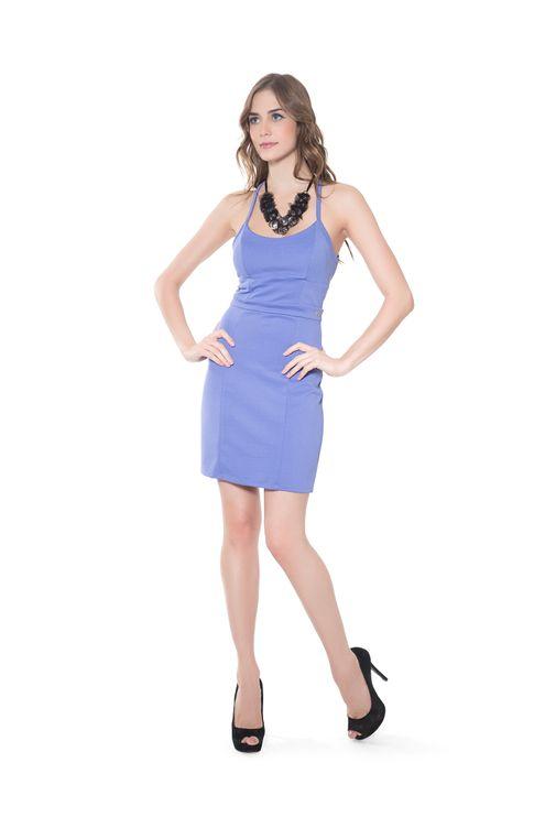 Vestido-tubo-Azul-M