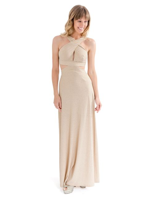 Vestido-decote-transpassado-lurex-Dourada-P