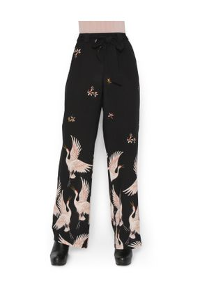 Pantalona-crepe-garcas-Preta-M