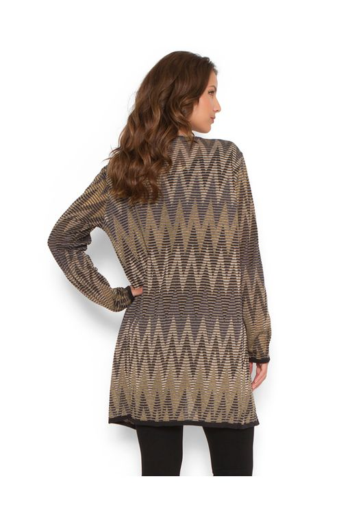 Casaco-tricot-longo-zig-zag-Azul-marinho
