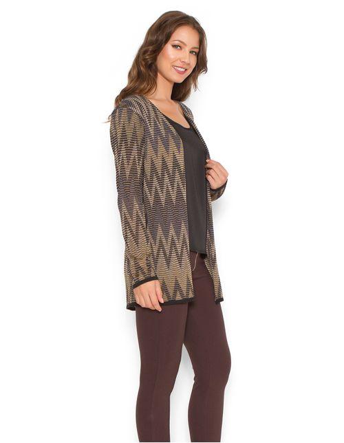Casaco-tricot-curto-zig-zag-Azul-marinho