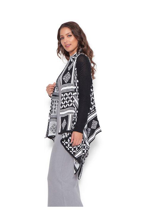 Tricot-kimono-geometrico-Preta-branca