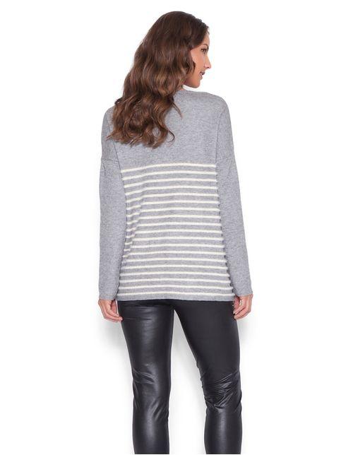 Blusa-tricot-decote-vazado-Cinza