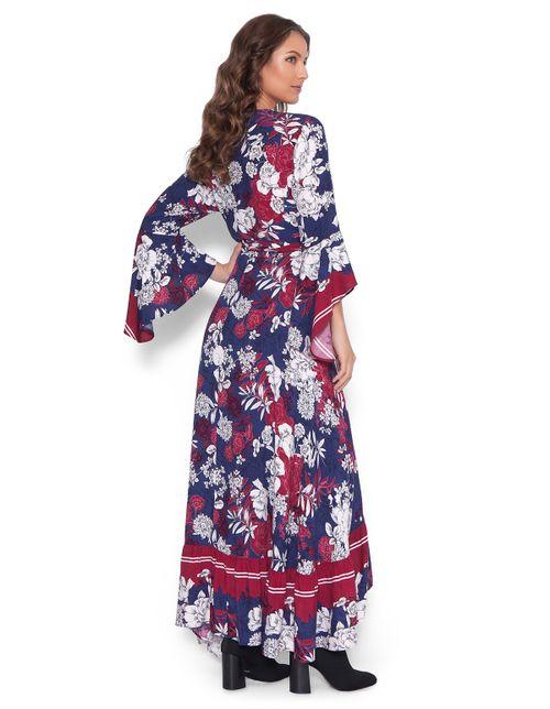 Vestido-longo-transpassado-Azul-marinho