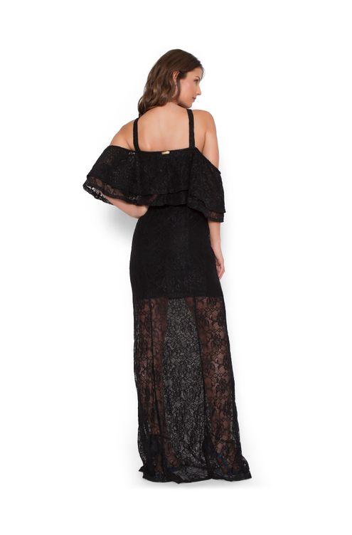 Vestido-longo-bodoir-renda-Preta-M