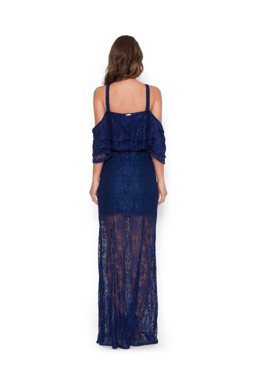 Vestido-longo-bodoir-renda-Azul-marinho-P