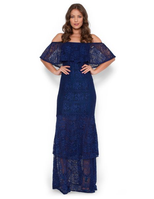 Vestido-longo-ciganinha-babados-Azul-marinho-M
