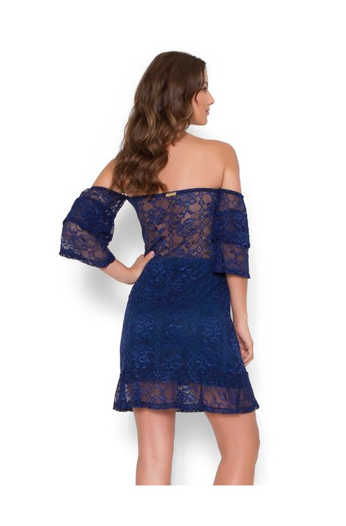 Vestido-renda-manga-babado-Azul-marinho-P