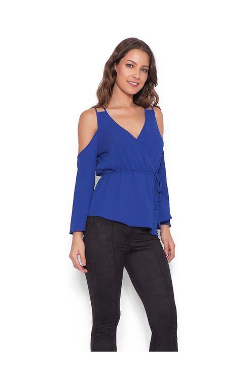 Blusa-transpassada-Azul-M