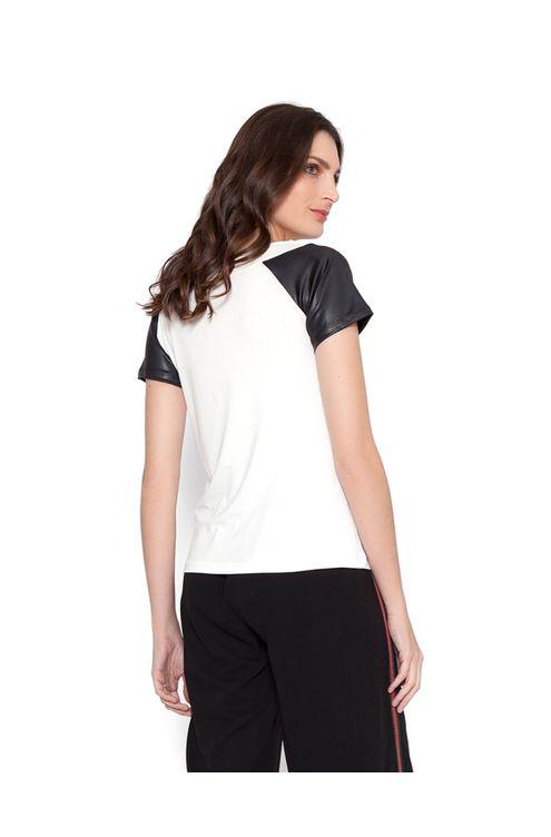 Blusa-manga-raglan-preta-decote-redondo-off-white-