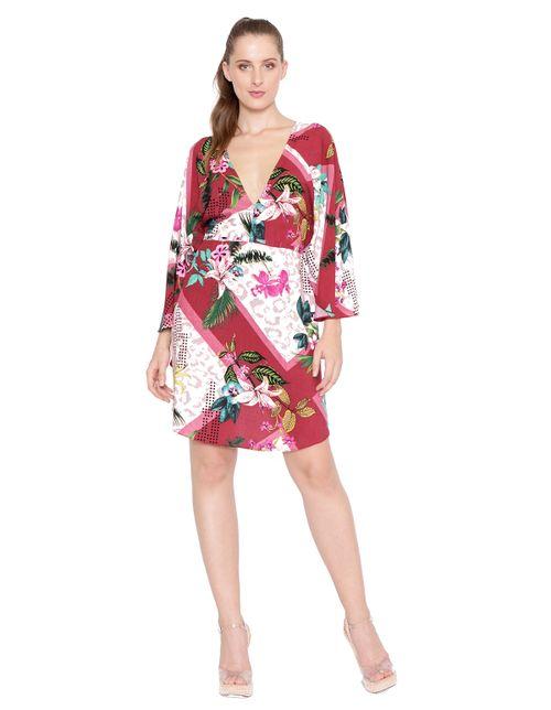 Vestido-kaftan-manga-borboleta-rosa-vinho