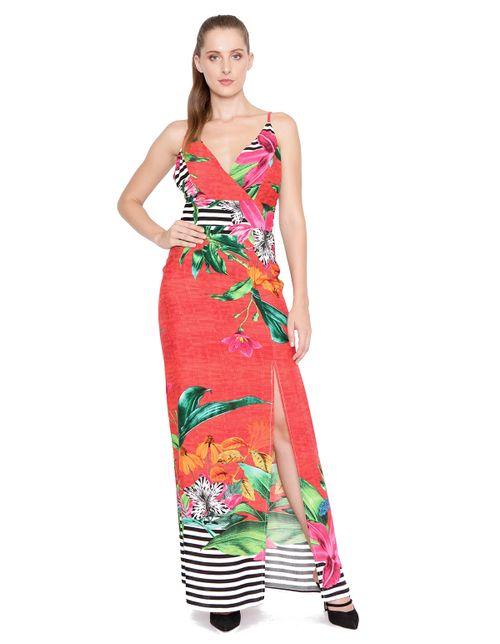 Vestido-longo-fenda-vermelha-verde
