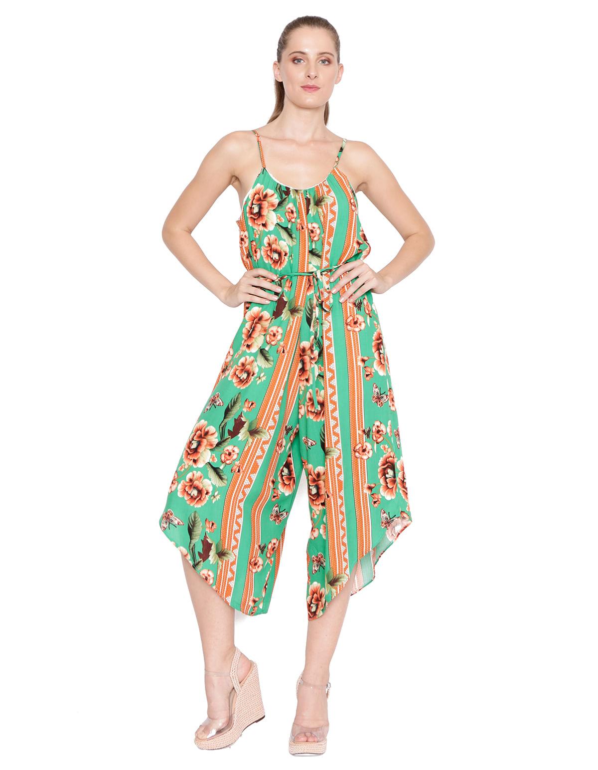 fe09c13f14 Macacao pantacourt c. faixa verde laranja - LucyintheSky