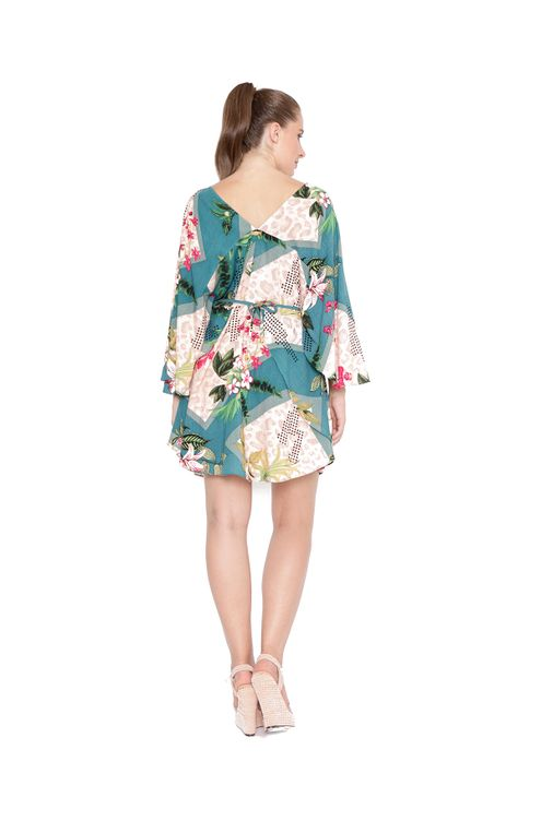 Vestido-kaftan-manga-borboleta-rosa-verde