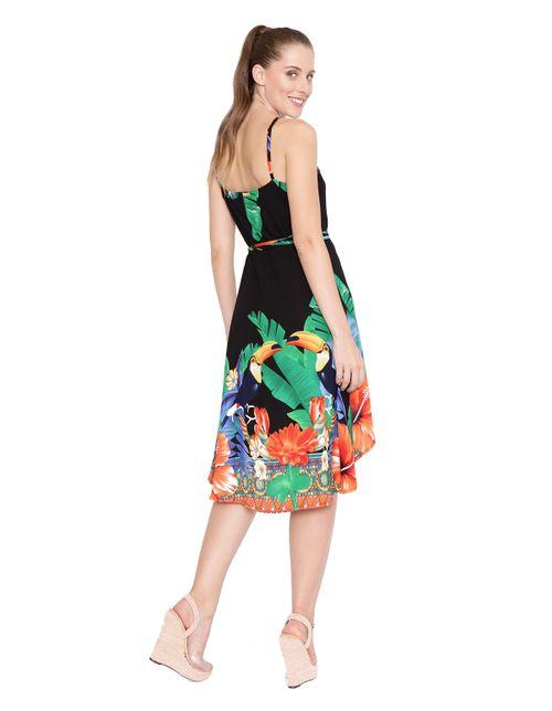 Vestido-midi-transpassado-preto-verde