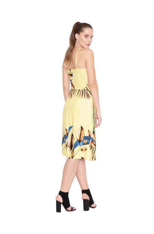 Vestido-midi-ajuste-frente-amarelo-azul