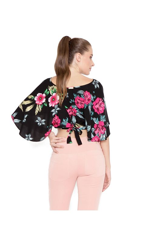 Blusa-cropped-com-ajuste-preto-rosa-