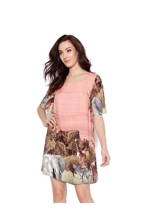 Vestido-curto-manga-curta-rose-marrom