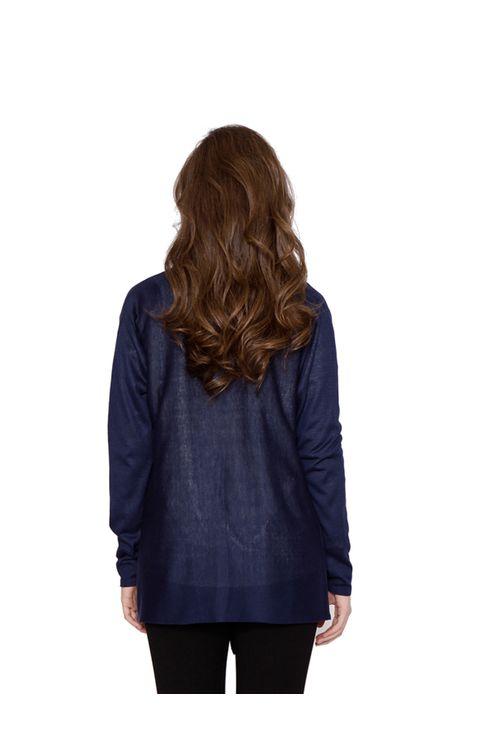 Casaco-kimono-tricot-azul-marinho