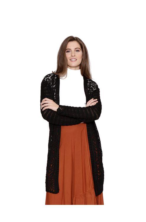 Casaco-midi-tricot-rendado-preto